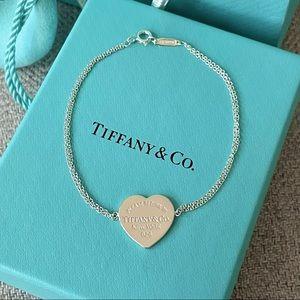 Tiffany Heart Tag Double Chain Bracelet